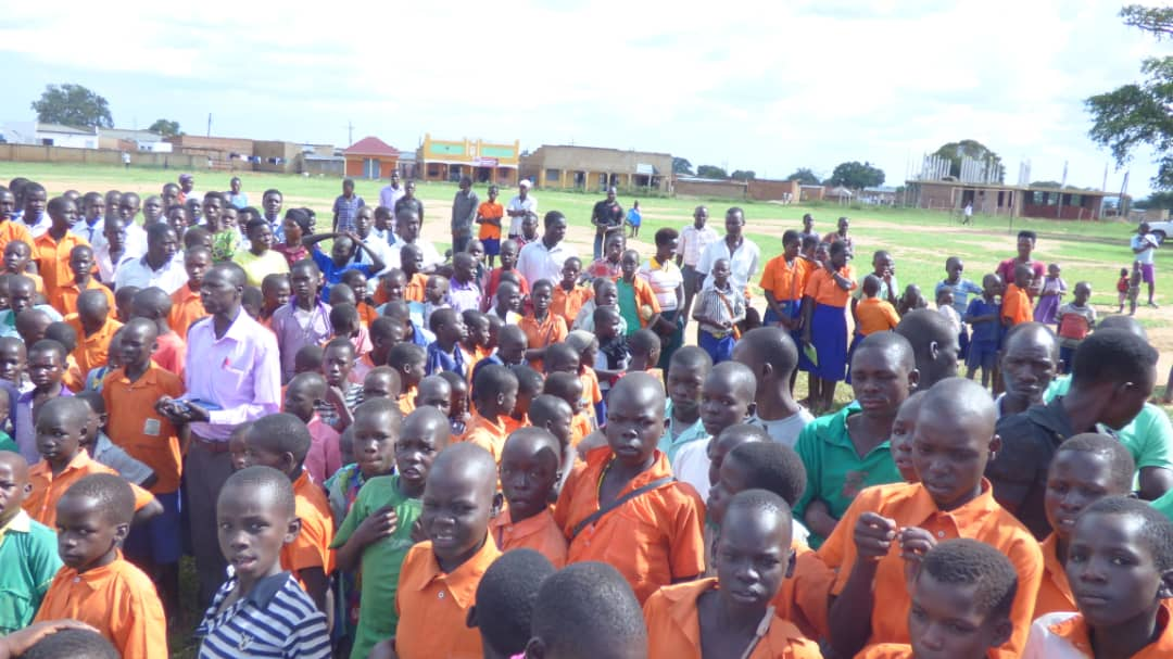 Youth from across Amolatar were in attendance at the event, including students from Global Leaders and FAF School Outreach partner, Namasale Primary School. Photo provided by FAFUganda & Amolatar District with permission to post.