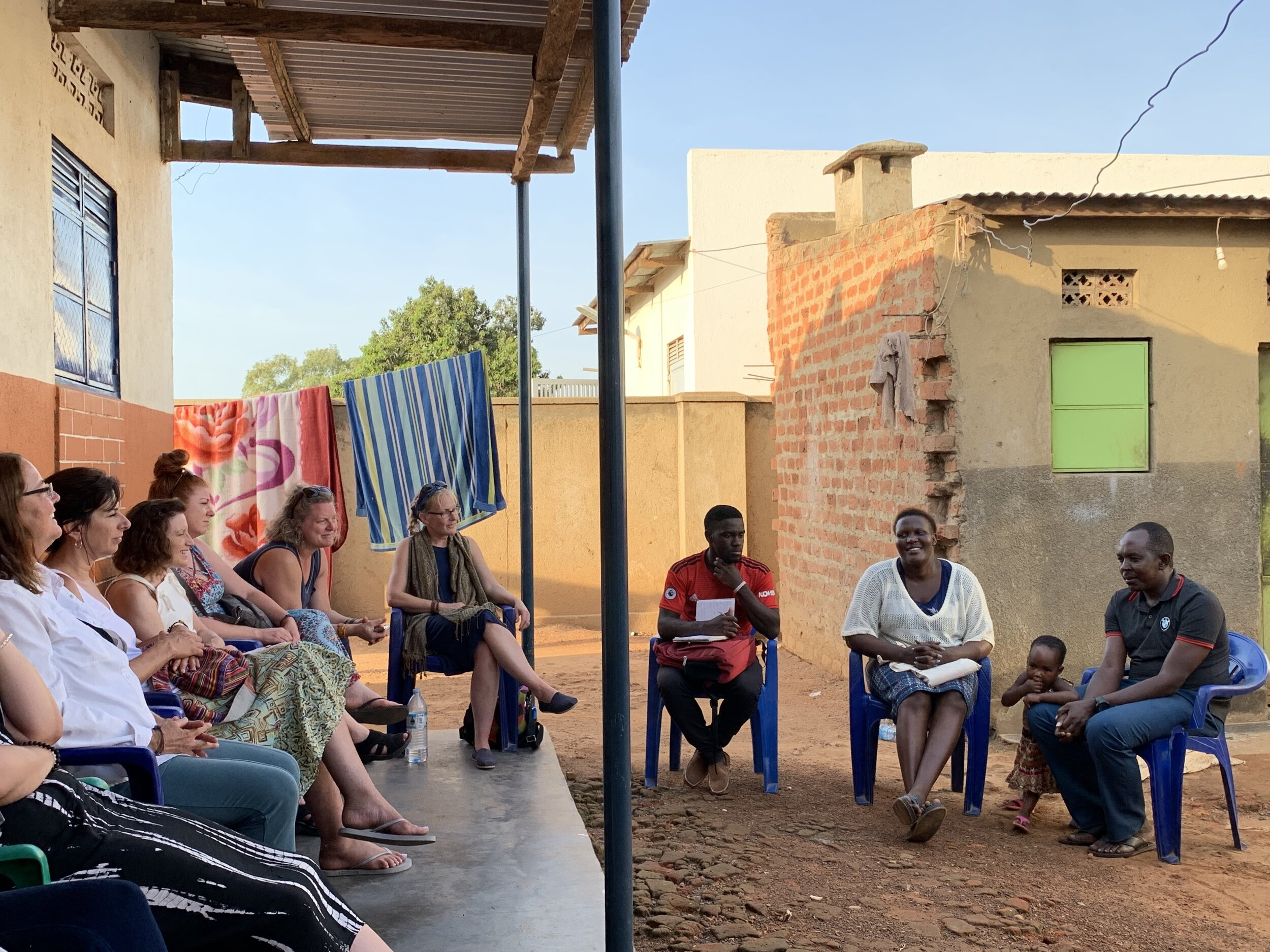 Country Director Collines Angwech brought our 2019 Cultural Immersion Trip participants to the home of Ayena Godfrey to learn more about the challenges faced by parents & small business owners in Namasale.