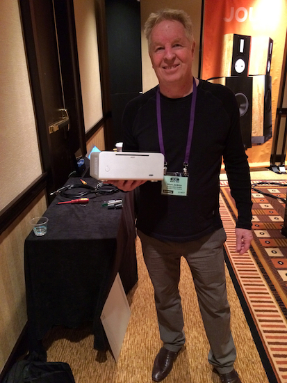 Mark Jenkins of Antipodes and his DS Reference Music Server. At the Rocky Mountain Audio Fest, 2013. Denver, CO