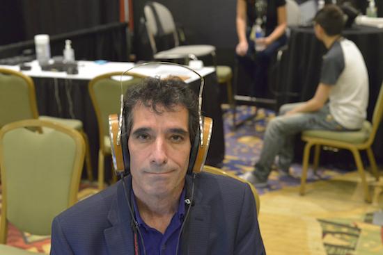 Karl Sigman wearing the HE 1000 headphones