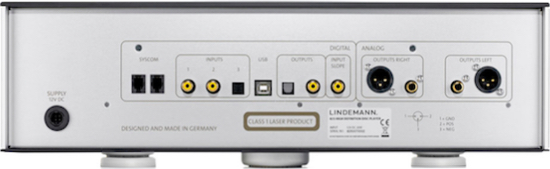 Lindemann 825 High Definition Disc Player rear panel