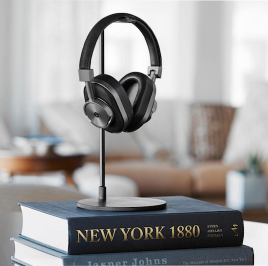 Master & Dynamic MW60 Wireless Headphone on its dedicated stand.