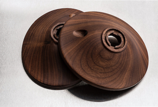 Solid walnut ear cups are the visual highlight of the Classic 99 model.