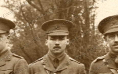 Butterworth as a young lieutenant in the Durham Light Infantry.