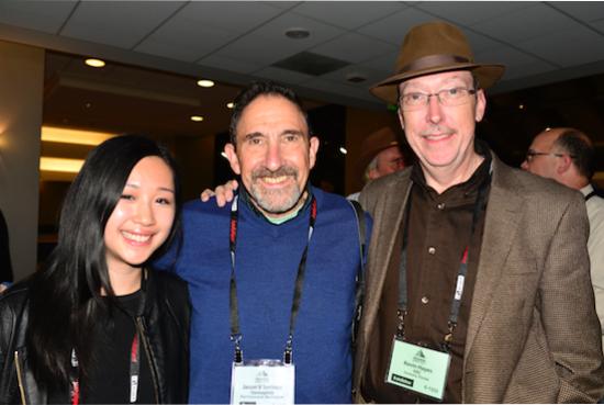 L - R: Jana Dagdagan and Jason Serinus from Stereophile, Kevin Hayes (VAC)