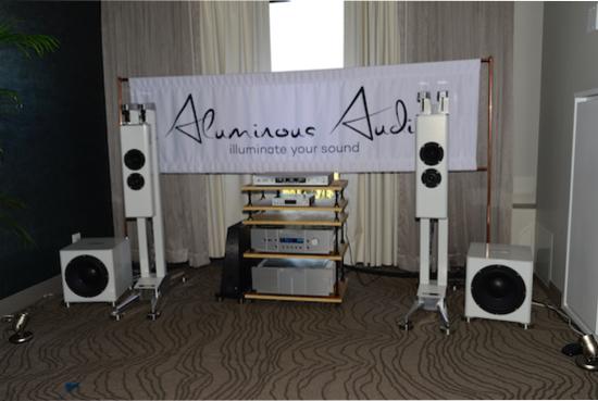 Aluminous Audio Gravitas loudspeakers ($39,900 /pr).