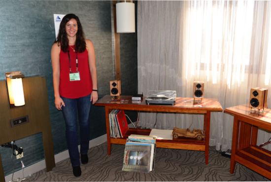 Aly Sotiros of Lowery Audio Woodworking.