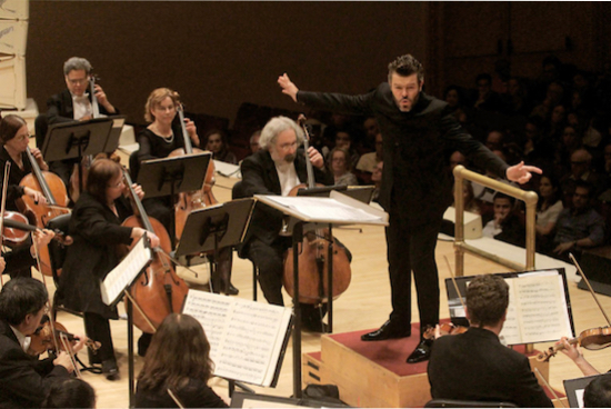Pablo Heras-Casado conducting the Orchestra of St. Luke's. Photo credit: New York Times.