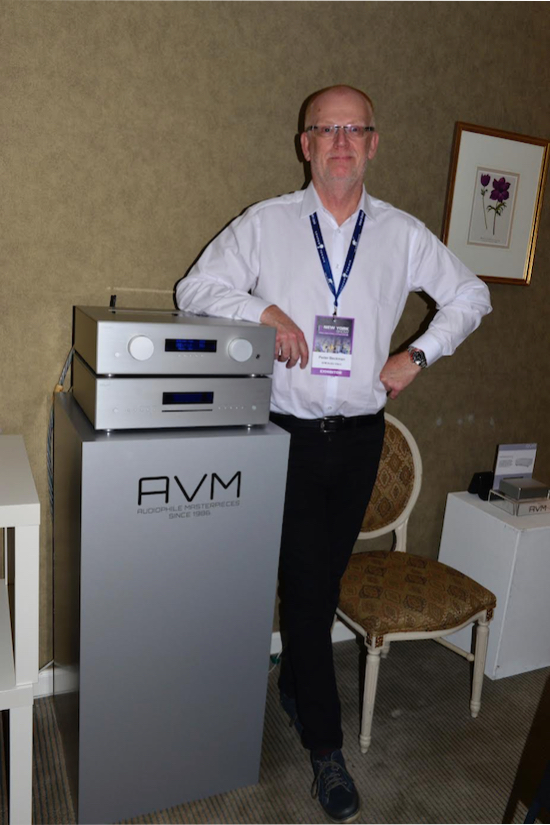 Peder Baeckman with his preamp.