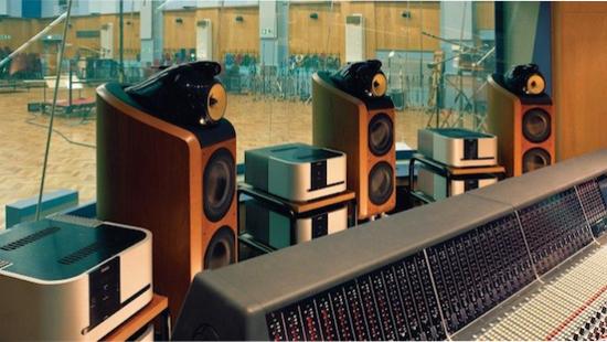 The objects of my desire. B&W 802 Diamonds at Abbey Road Studios, London.