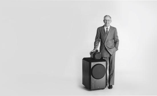 John Bowers and the original 801 Loudspeaker.