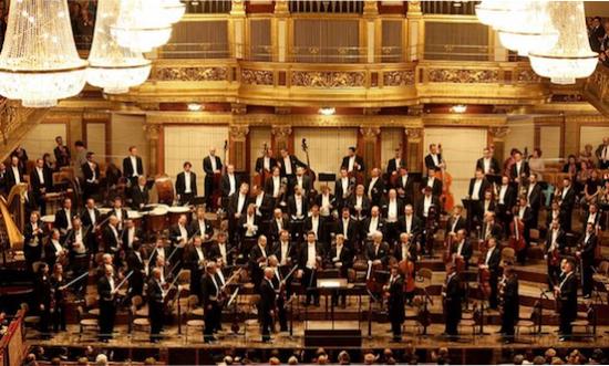 The Vienna Philharmonic Orchestra in the Großer Musikvereinssaal, Vienna.