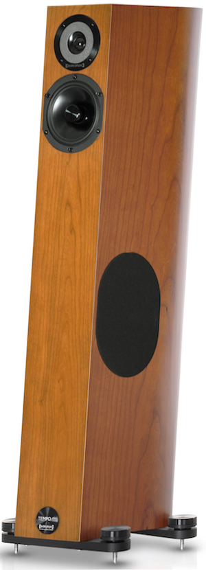 In cherry finish. With attached ' Magnetic Sound Optimizers '.