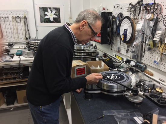 Harry Weisfeld sorting out a cartridge.