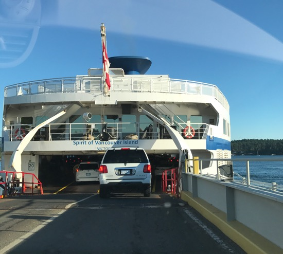 BC Ferries' time. 90 minutes north to Vancouver.