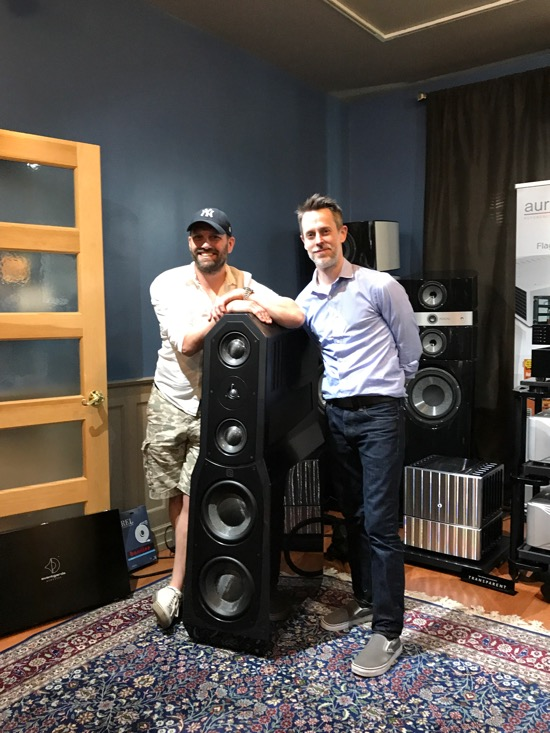 Trevor Doyle (left) of Massif Audio Design and Jim Thompson of Eggleston Works with his Andra Viginti Limited Edition loudspeaker (USD$39,999). I listened to this speaker a lot over my three days. A wonderful dedication to the company's original Andra. Hoping to do a full review at some time.