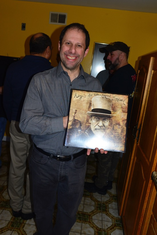 I met a happy fan/audiophile, Jonathan, who was given a copy of the album.