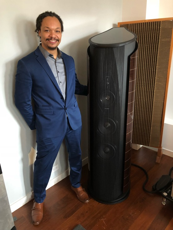 Will Kline, North American Brand Manager, Sonus faber and the Aida Speaker.