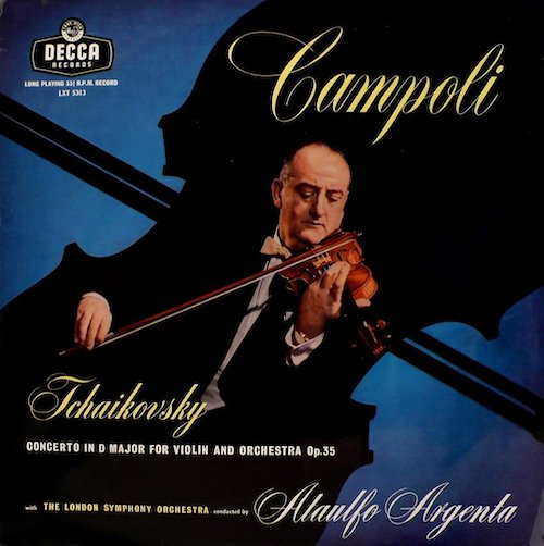 I had the great pleasure of sharing the concert stage with Alfredo Campoli when he was in his 90s. His technical assurance at that age was staggering. Here, at a much younger age, he makes an almost perfect record. No matter the Decca or London 'Blueback' release, you'll get a superb performance of the solo part while the almost mythical Ataulfo Argenta conjures a miracle accompaniment from the LSO. The recording is spectacular. Hard to find. Not reissued, but worth the hunt.