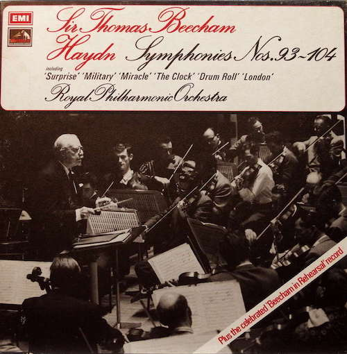 Gloriously musical from the great man and performances in both mono and stereo with equally glorious playing from his hand picked Royal Phil. EMI sound. It's amazing how natural Beecham's Mozart and Haydn sounds. Like an old friend, but new. Here, his Haydn is pretty well definitive, at least on vinyl.