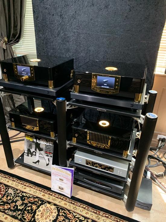 Stack of MBL. Looks amazing (reviews forthcoming). N31 CD/DAC $15,400; N15 monos 17,800 each; N11 Pre $14,600