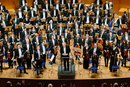 Adam Fischer with the Düsseldorfer Symphoniker. Photo: Adam Fischer.