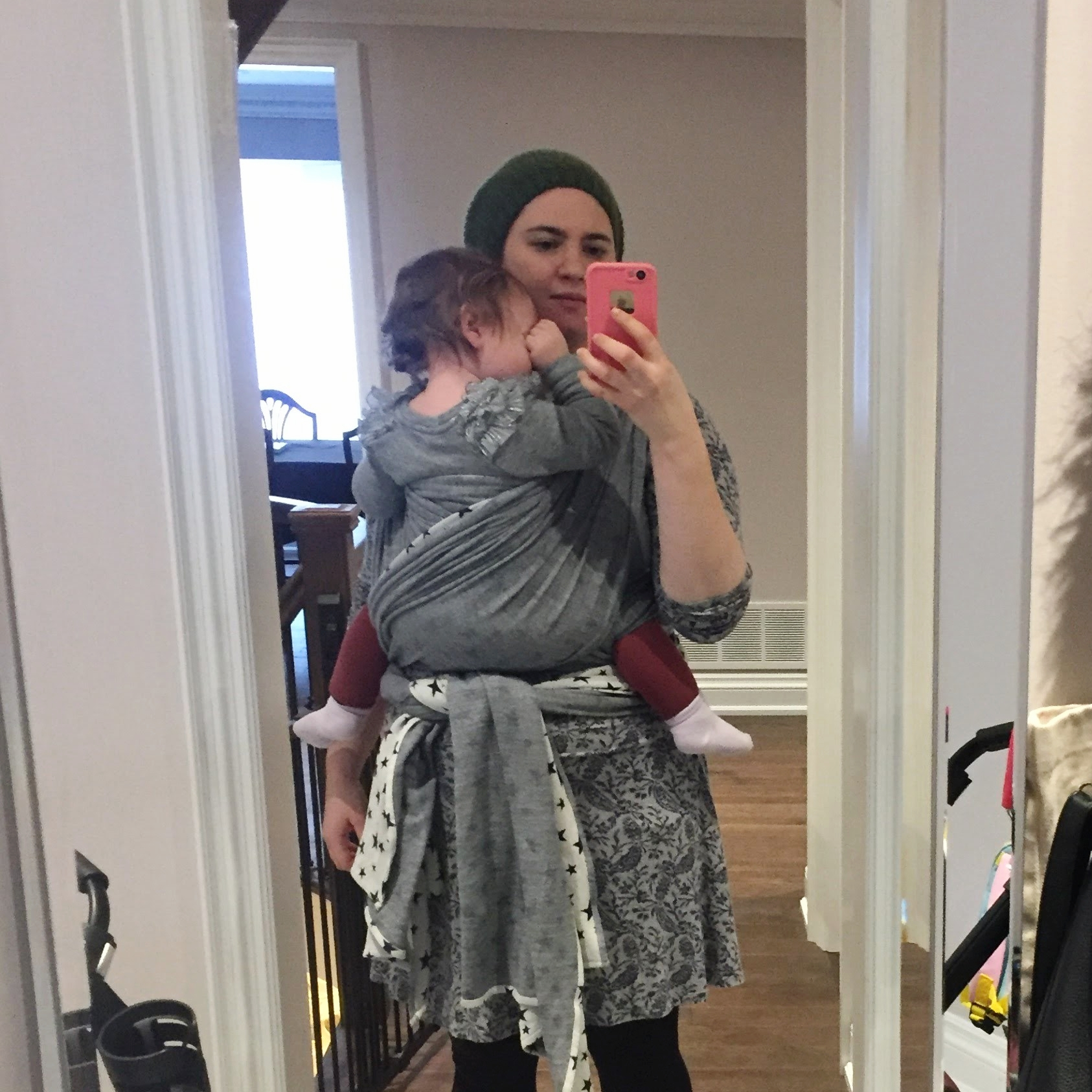 Trying out a Didymos Hybrid Jersey Wrap with my big Girly