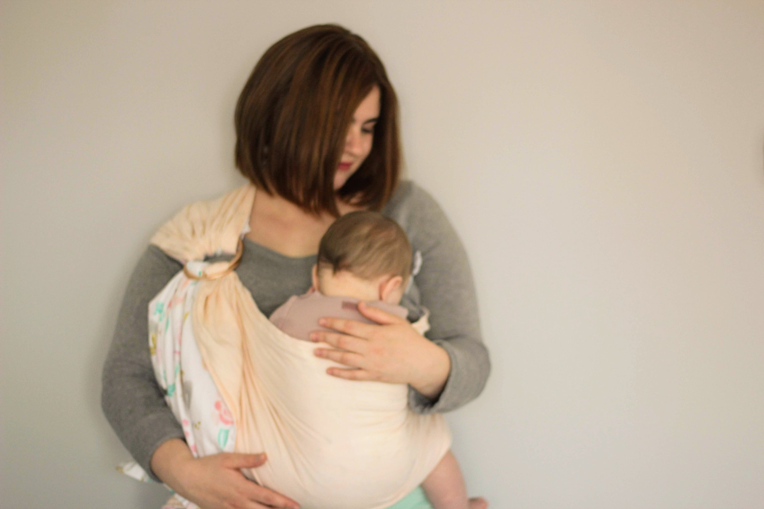 Breastfeeding using our ring sling.