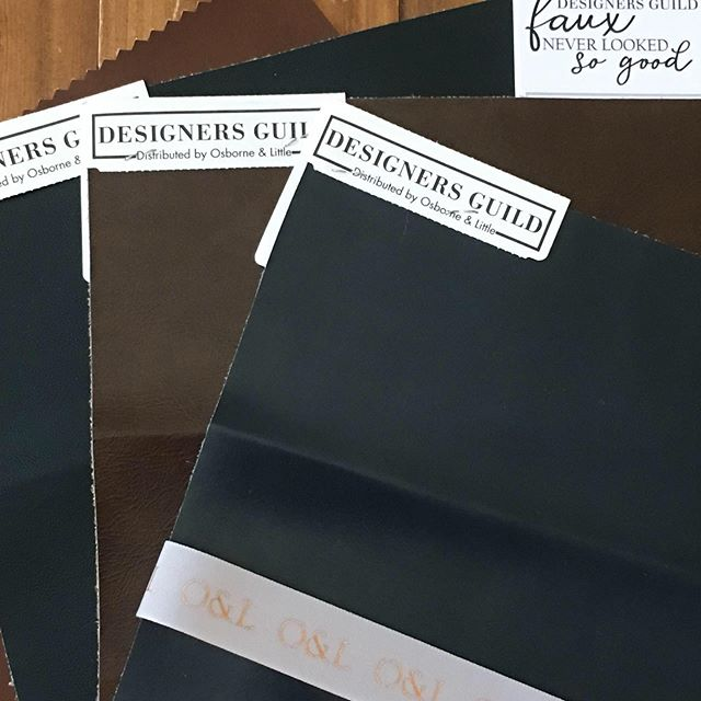 Faux Leather in 58 colors! #katherynrobertsonltd #interiorsesign #greatkitchens #barstools #dogfriendly
