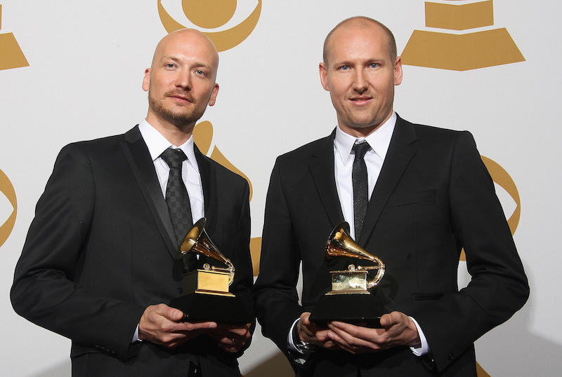 You probably don't know who these men are. Yet chances are you've heard dozens of the mainstream American music hits they've written over the past decade. Mikkel Eriksen, left, and Tor Hermansen. (Getty Images)