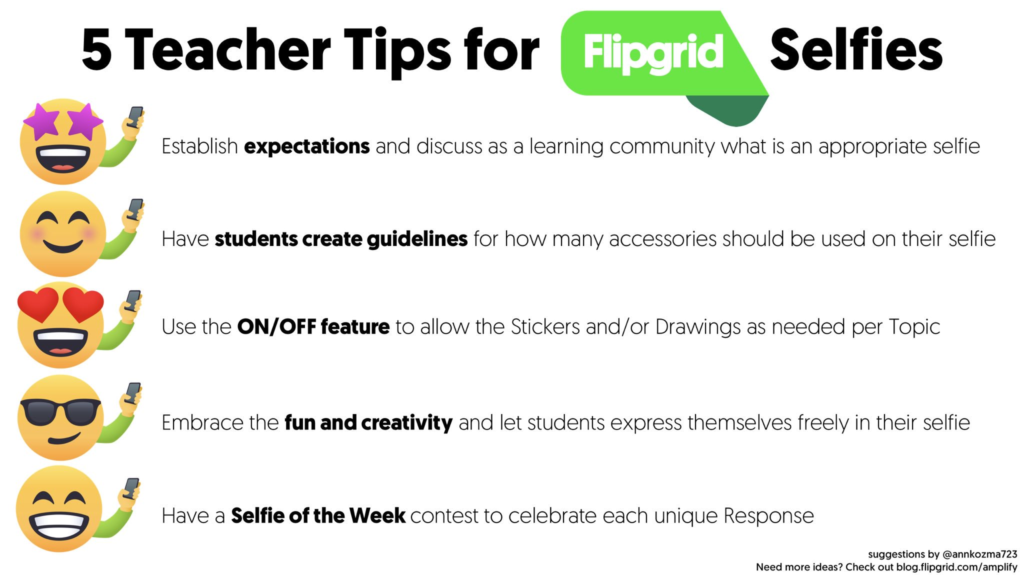 5TeacherTipsForFlipgridSelfies