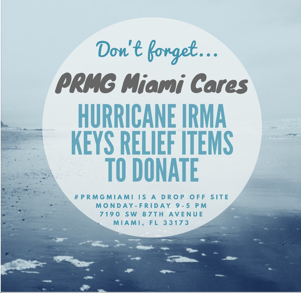 PRMG Miami: Hurricane Relief Efforts
