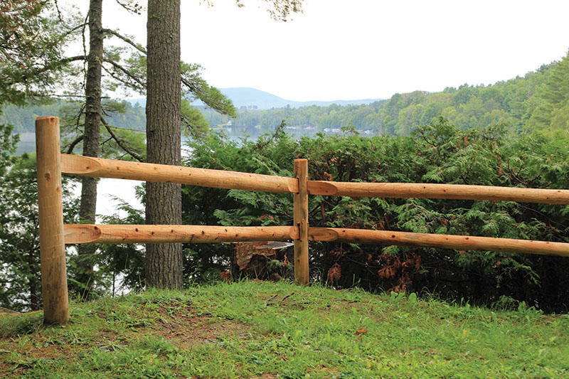 Post and Scarf Rail Fence