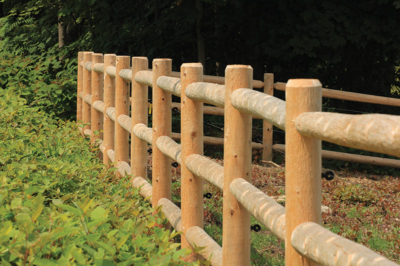 """6"""" post and 4"""" rail"""