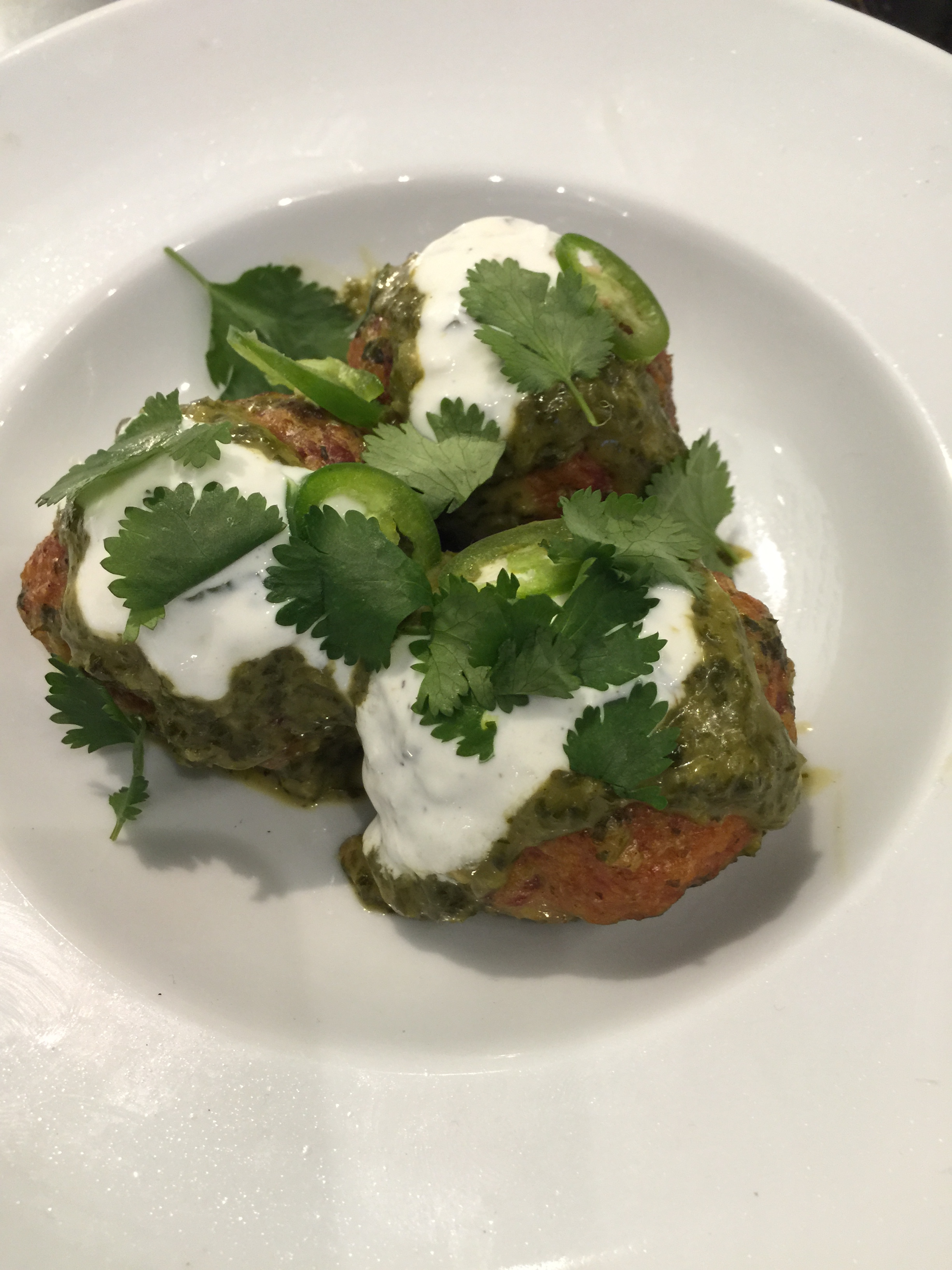 Lamb & Goat Meatballs with Thai Green Curry