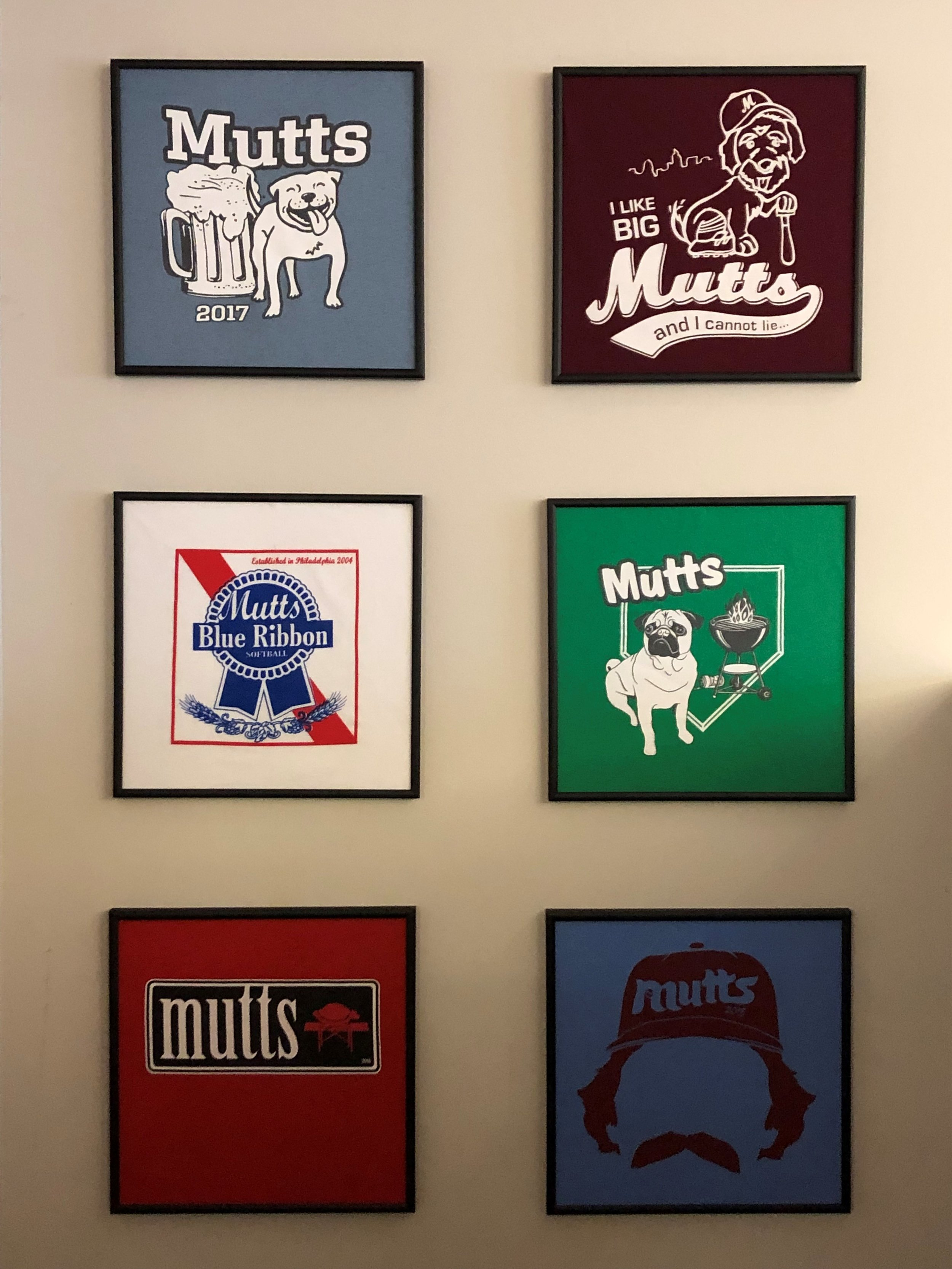 Mutts shirts through the years