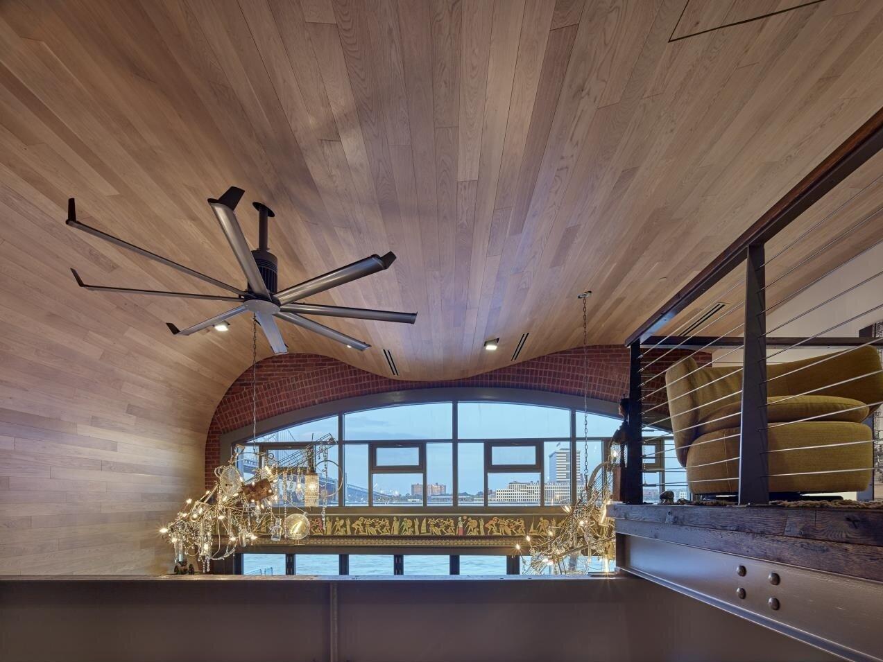 Unique Wood Wave Ceiling