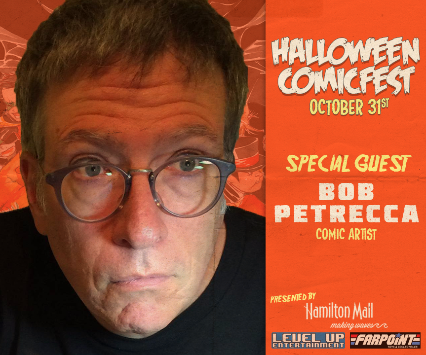 Bob Petrecca is an extremely talented veteran comic book artist whose art has appeared in titles like Justice League Unlimited, Superman, Thor, and many other titles.  You can find his most recent work featured in the Upper Deck Firefly: The Verse line of trading cards.
