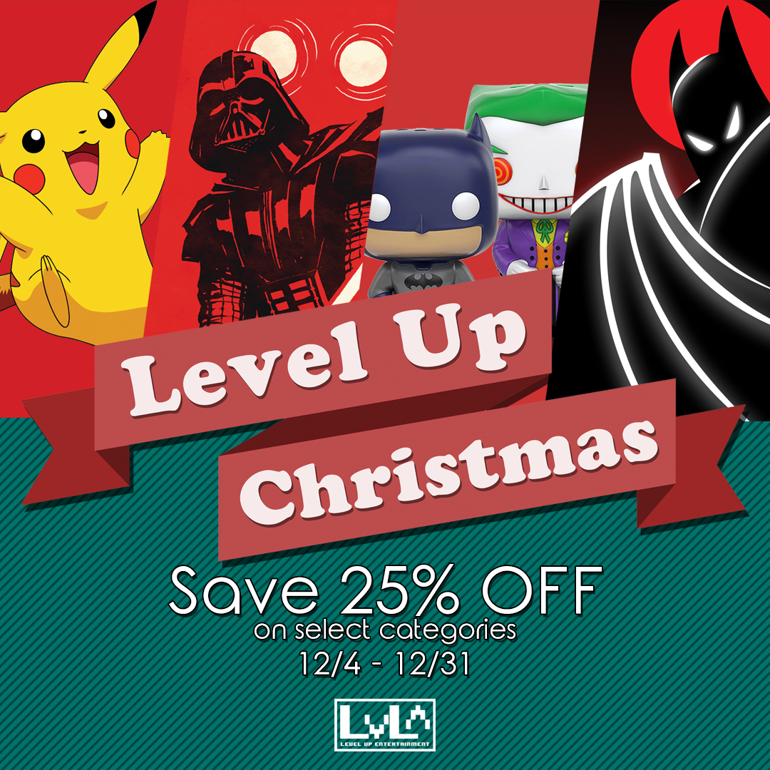 Use code LUXMAS online at shoplevelup.com or save in store instantly!