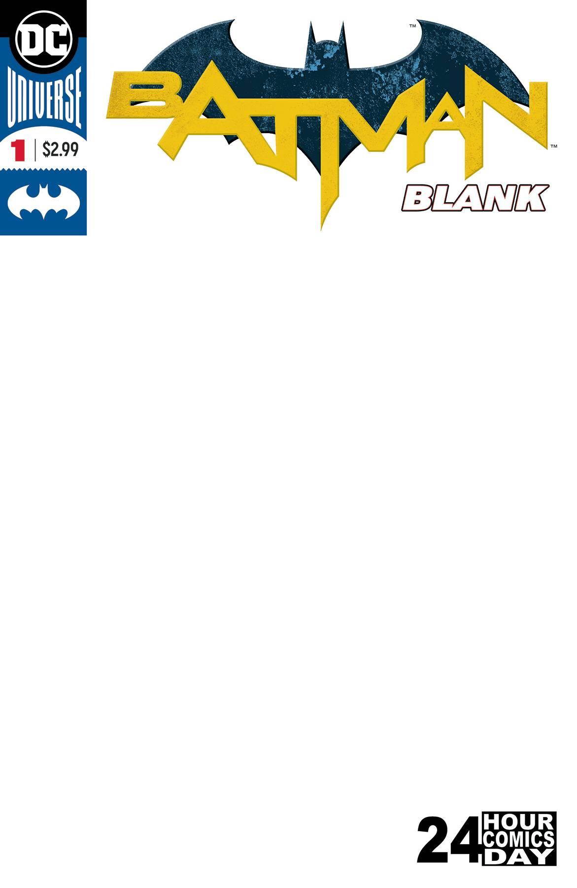BATMAN BLANK COMIC #1