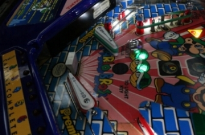 Super Mario Bros.  is the only officially licsenced Nintendo pinball machine.
