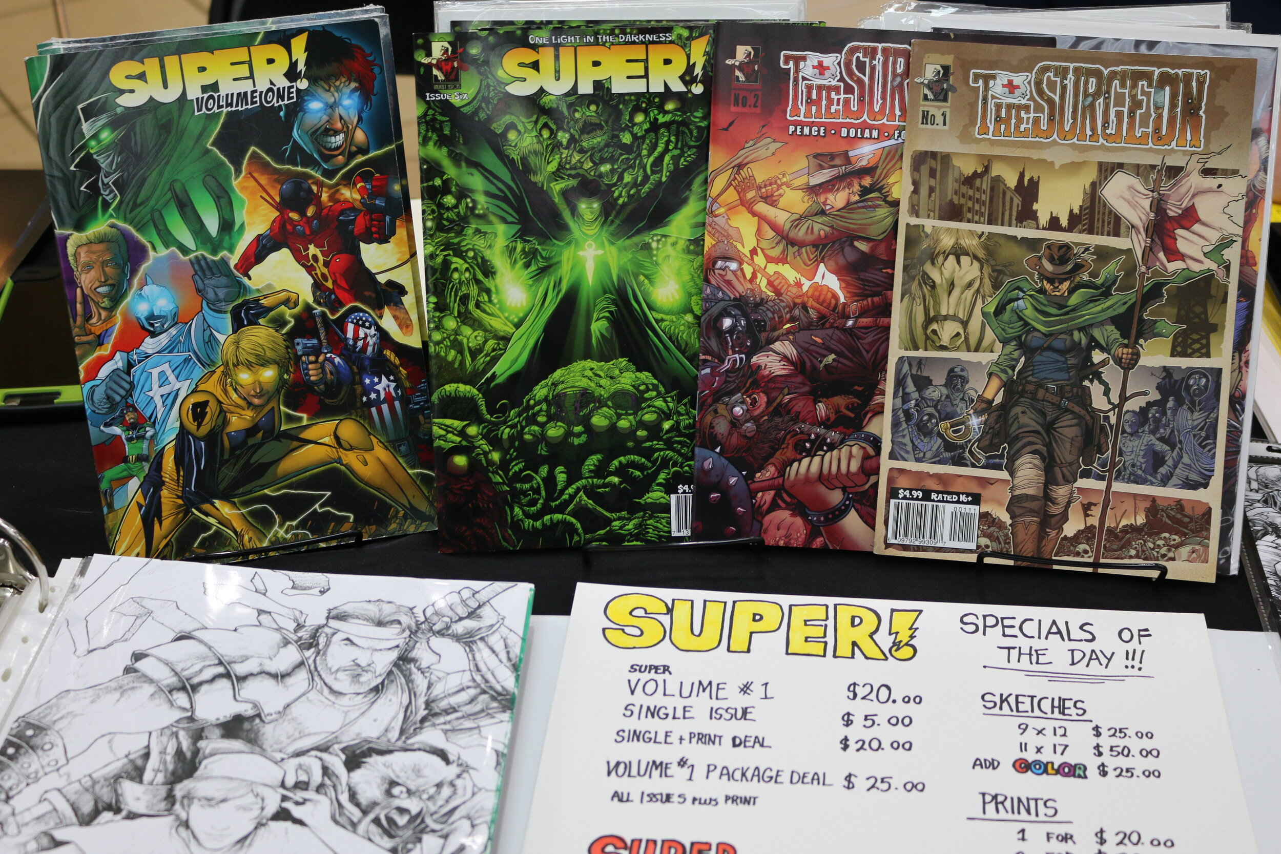 Some of Zack's books for sale.