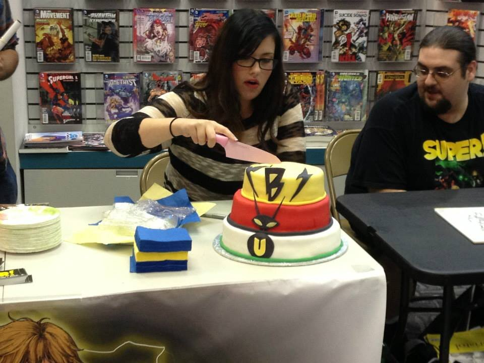 From our  Super!  Launch party. Tara ad Zack shared a specially designed cake with us and our guests!