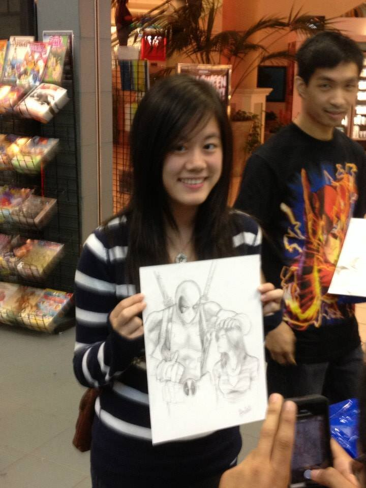 COstumers were able to get custom sketches…