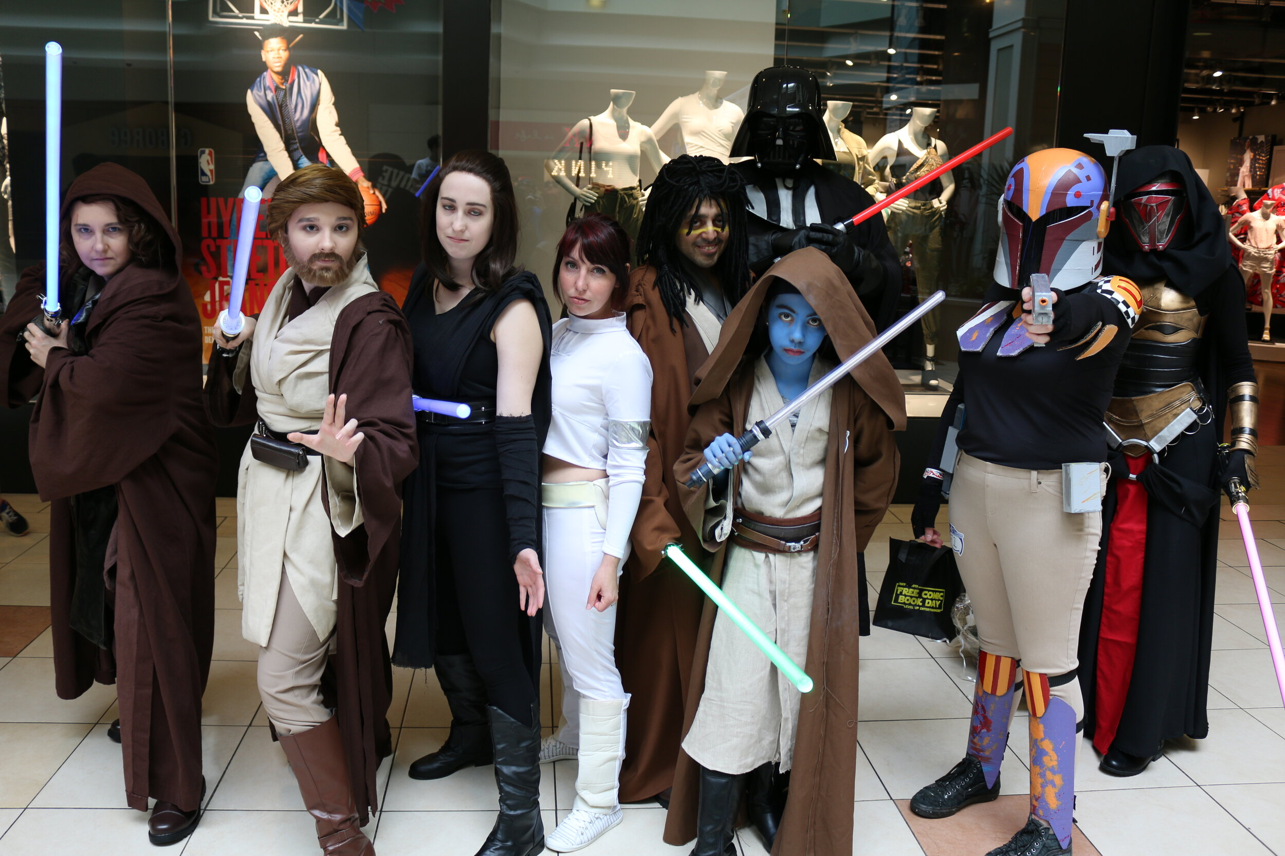 Emily, RStewie, Moaglin, Sam Starr and more as Star Wars Character at Free Comic Book Day on May the 4th 2019.
