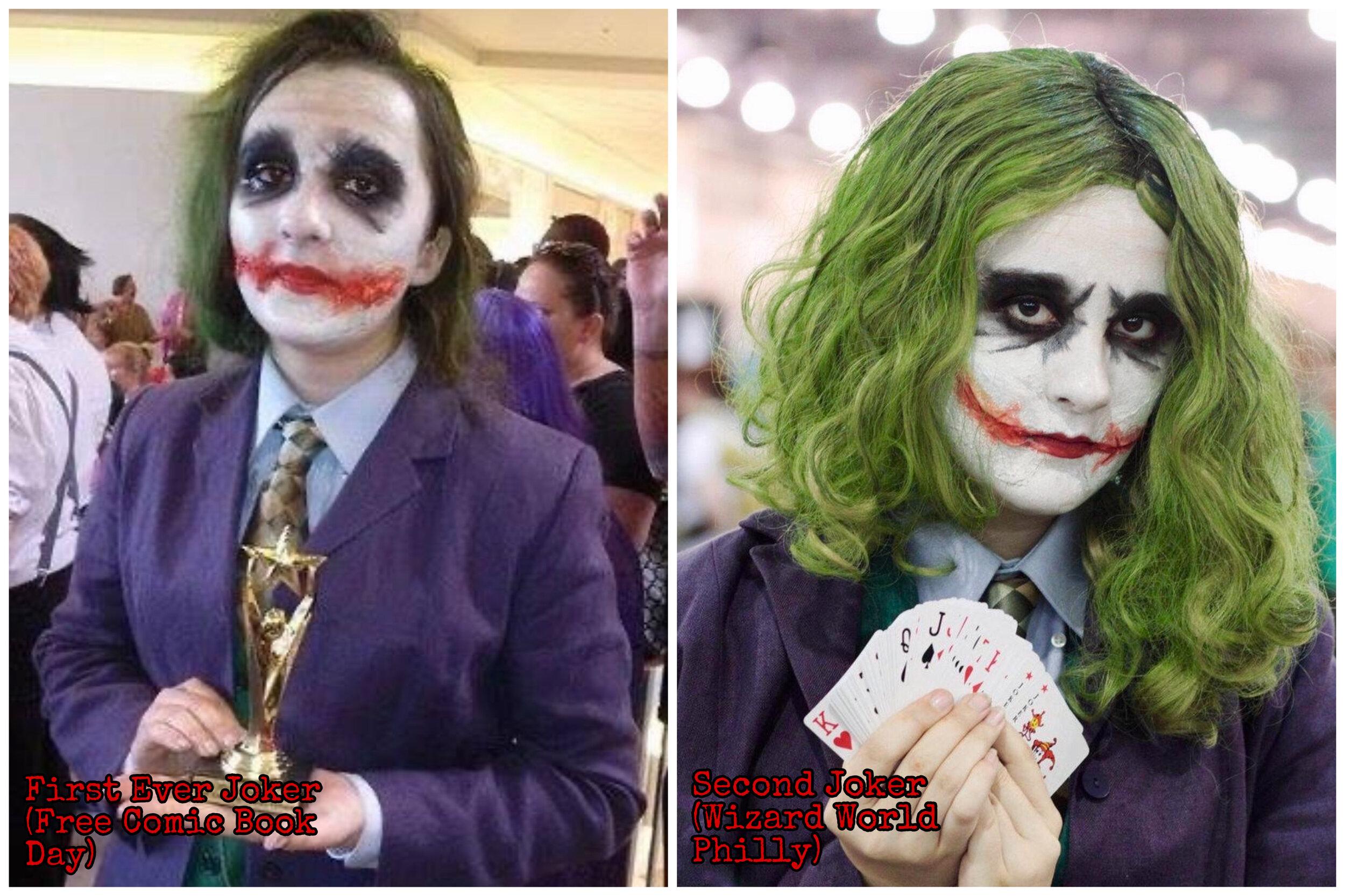 Joker cosplay comparrisons