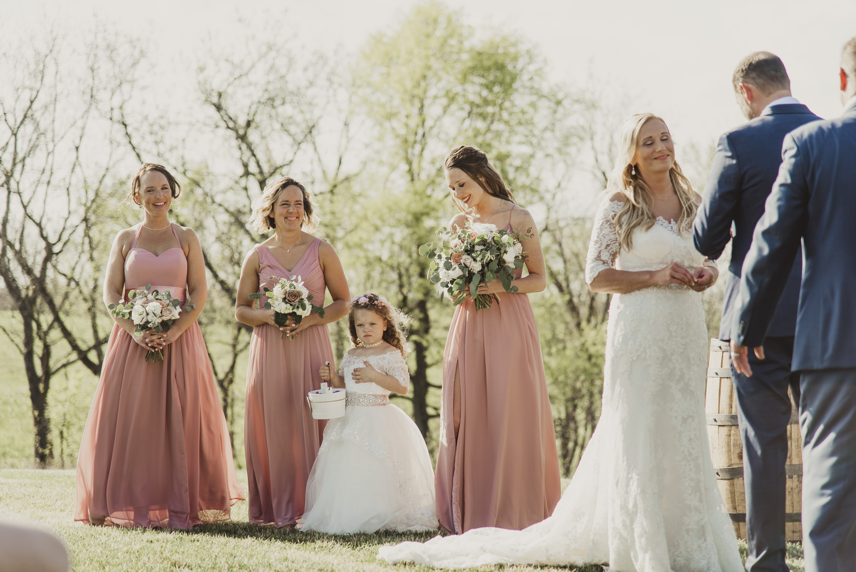 Bridesmaids Wedding Ceremony Olivia Katherine Photography