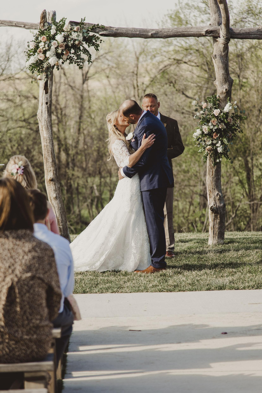 First Kiss Bride & Groom Wedding Olivia Katherine Photography