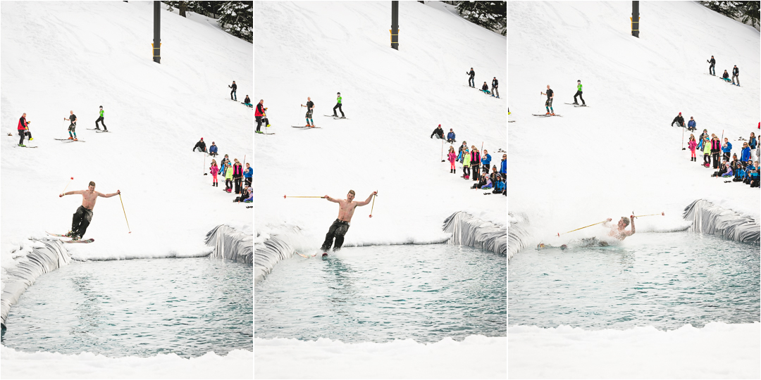 attempting the pond skim