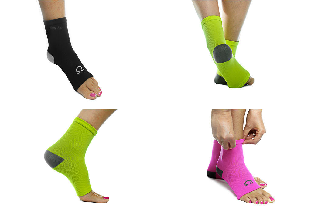 omega therapeutics compression foot sleeve commercial photo